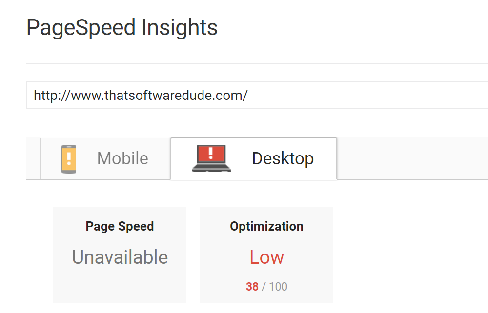 Google says my website is slow, and that's alright
