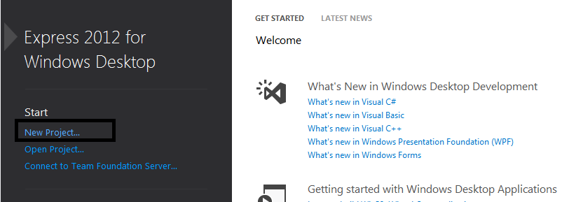 Visual Studio Express for Desktop