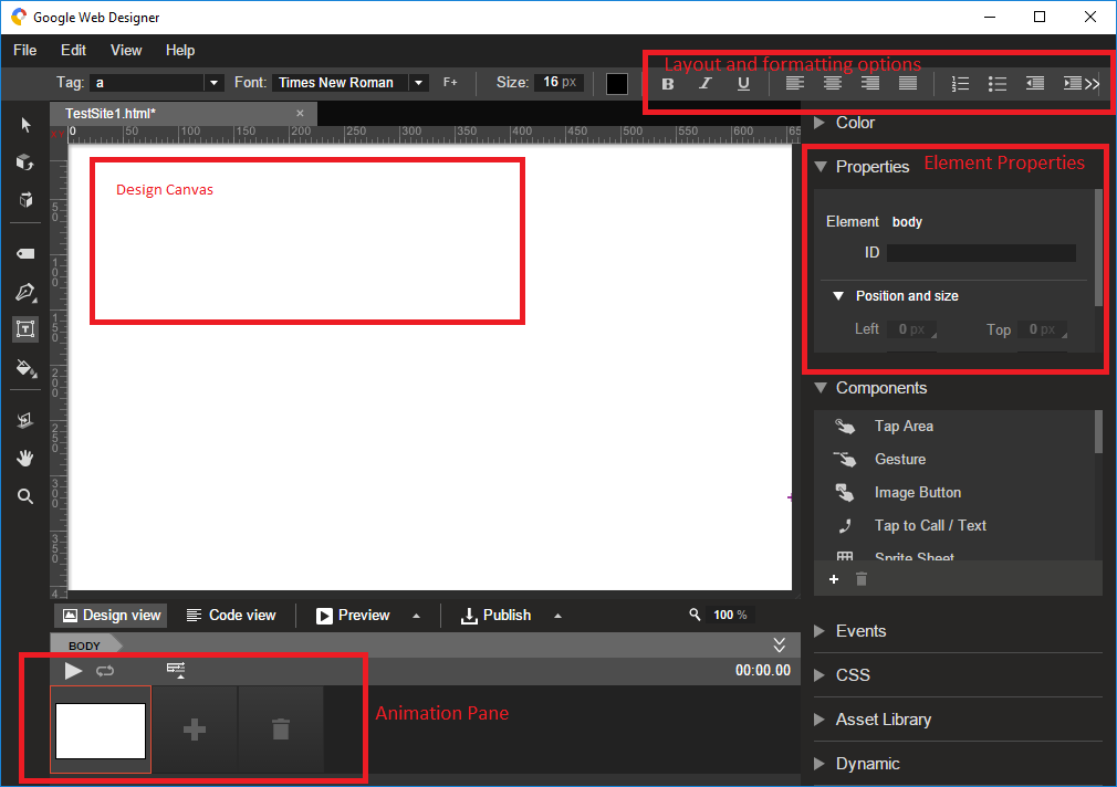 Designing Web Pages With The Google Web Designer Thatsoftwaredude Com